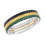 Queen Bee eternity ring stack 18ct gold