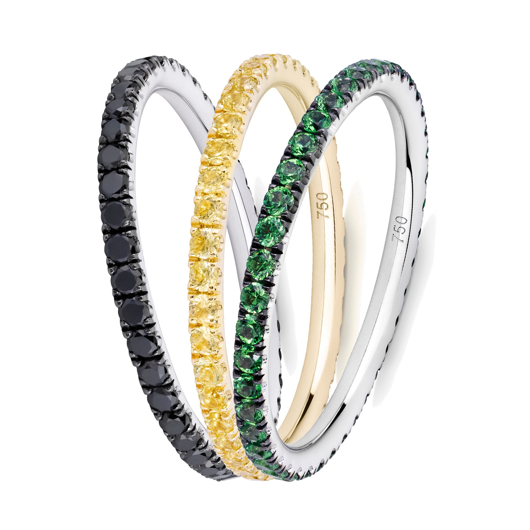 Queen Bee eternity ring stack