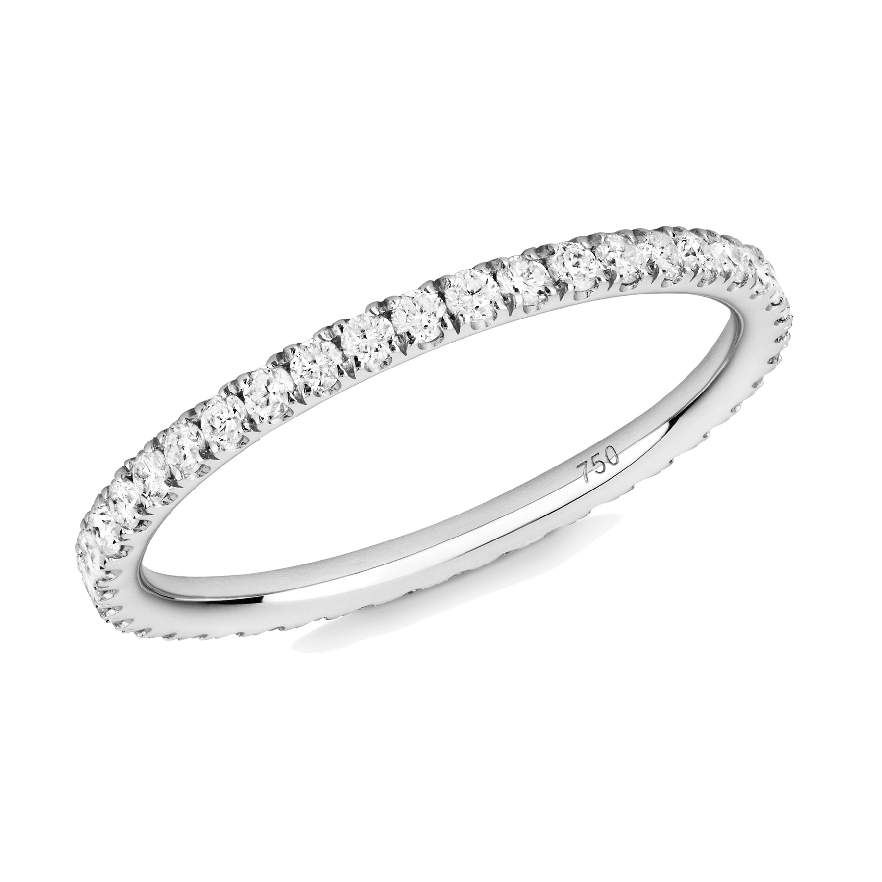 diamond full eternity ring 18ct white gold