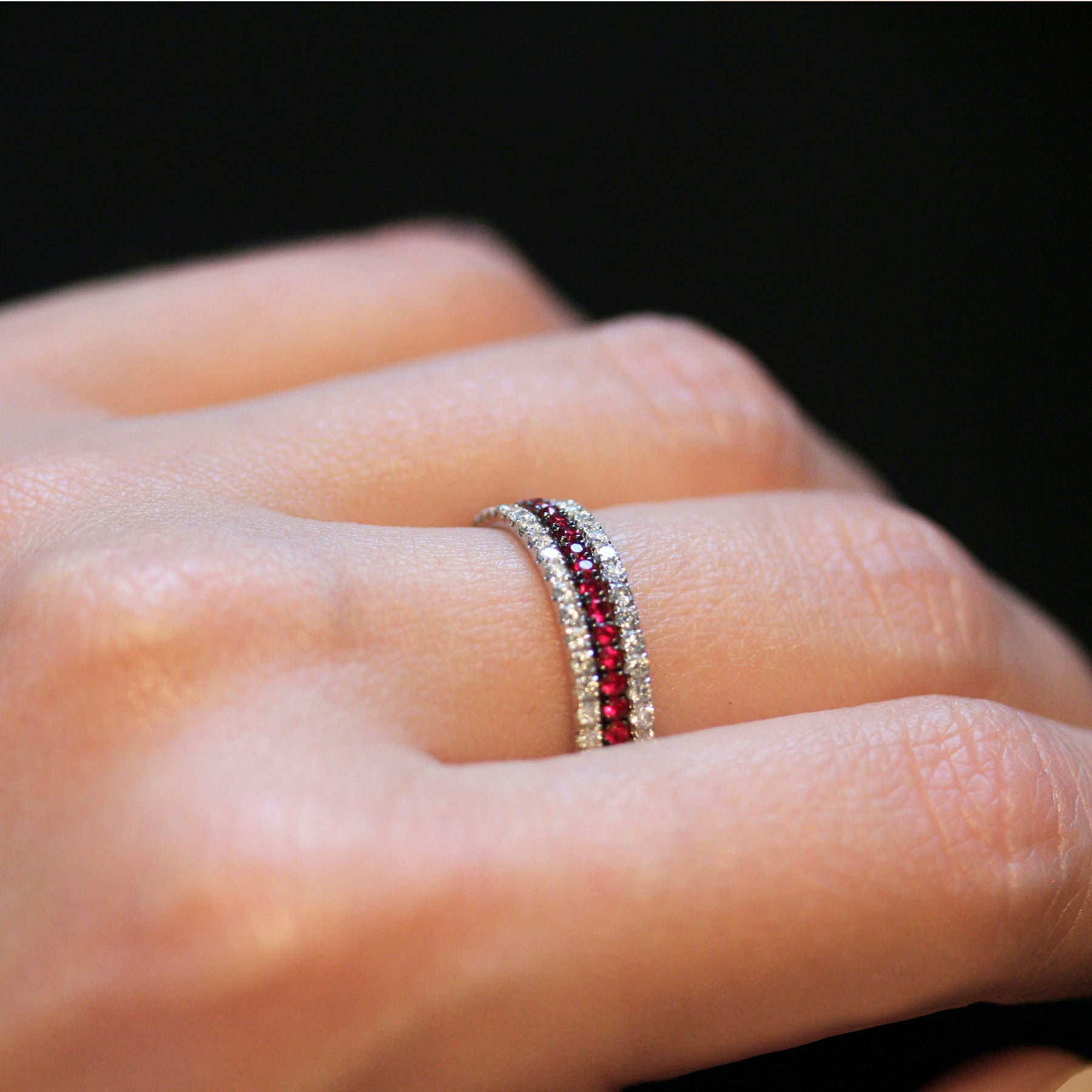 ruby full eternity ring 18ct white gold