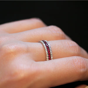 Line of Love eternity ring stack
