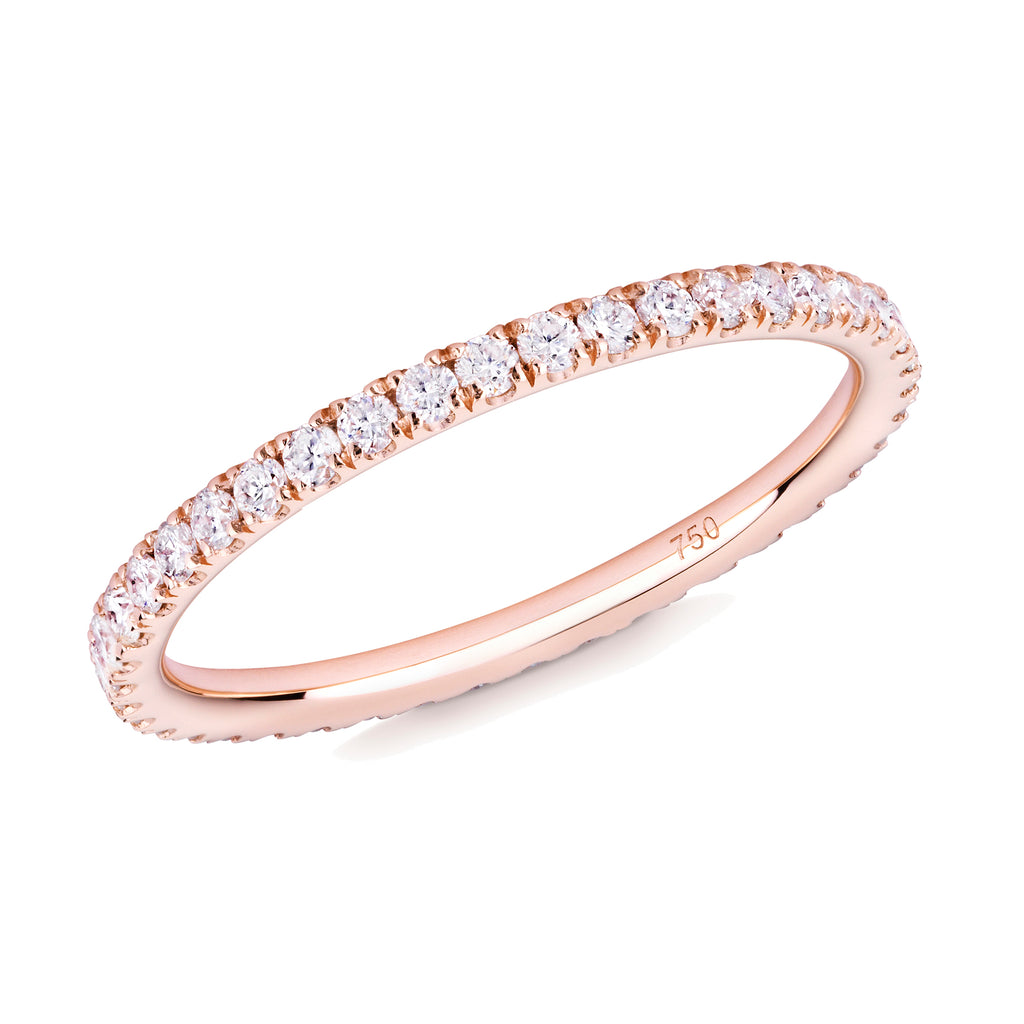 diamond full eternity ring 18ct rose gold