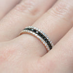 black diamond full eternity ring 18ct rose gold