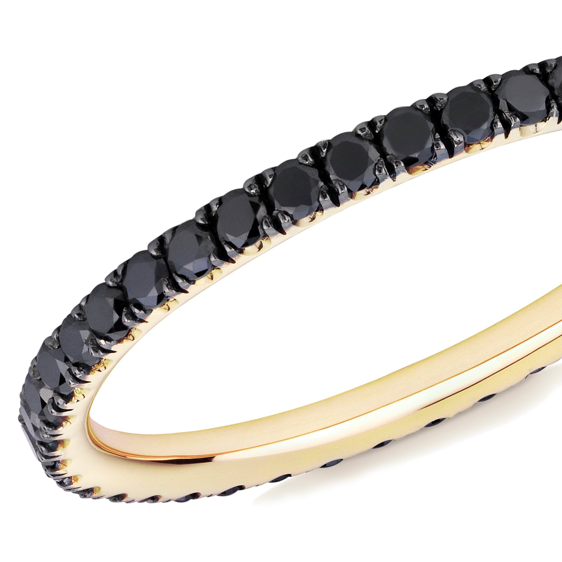 black diamond full eternity ring 18ct yellow gold