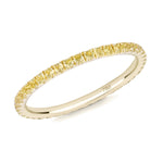 yellow sapphire full eternity ring 18ct yellow gold