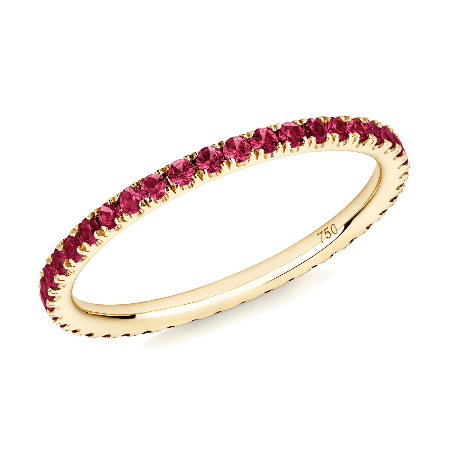 ruby full eternity ring 18ct yellow gold