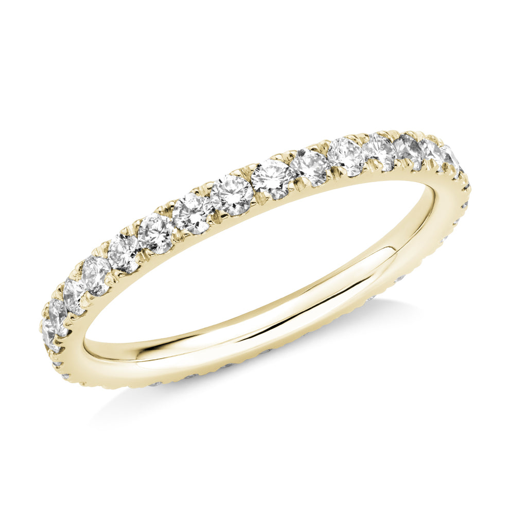 full set diamond 2mm ring in 18ct yellow  gold