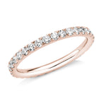 diamond full eternity 2mm ring 18ct rose gold