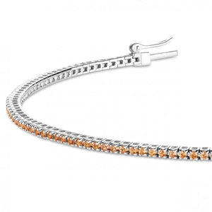 white gold orange sapphire bracelet 0.6ct