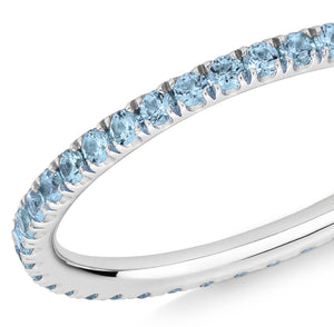 blue topaz full eternity ring 18ct white gold