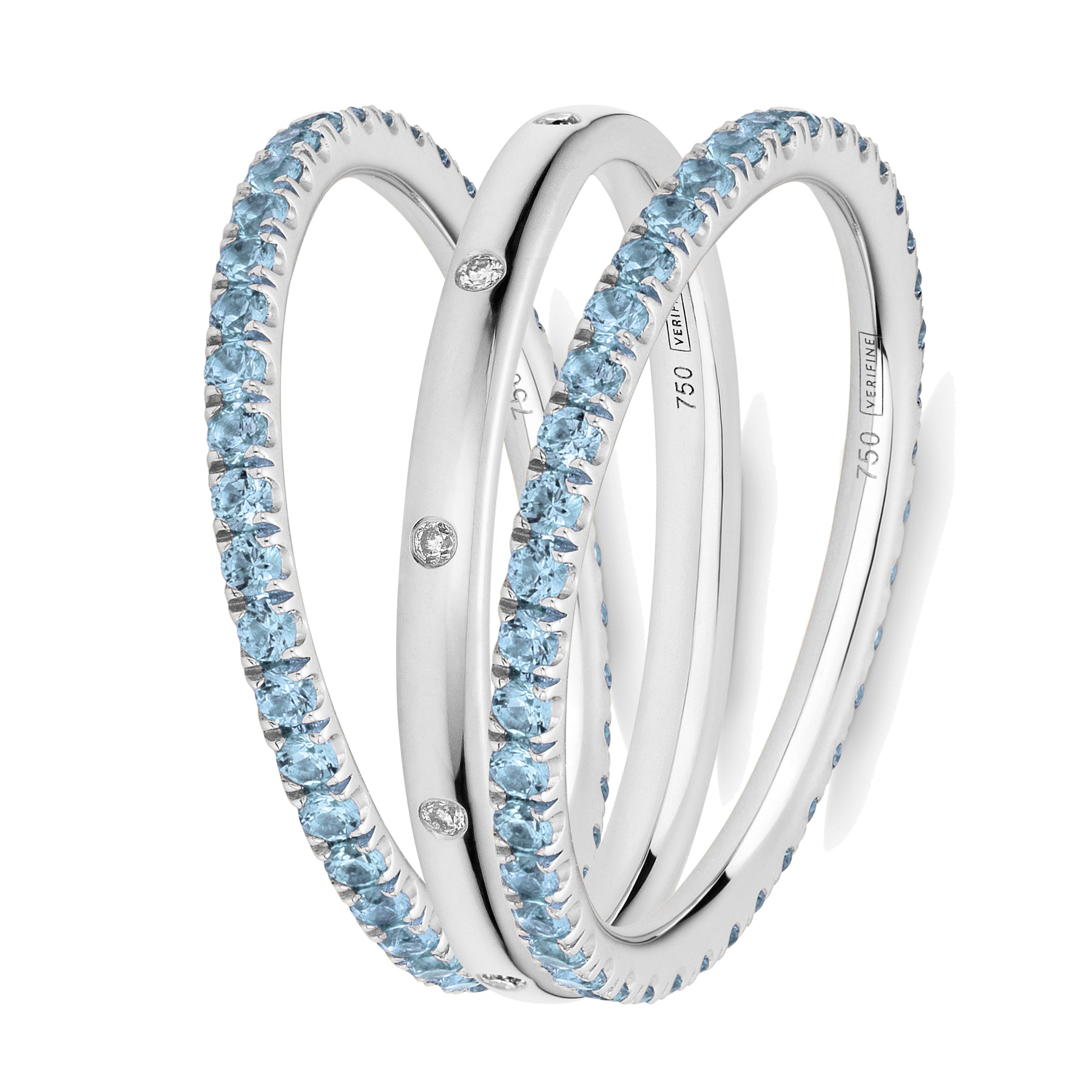 blue topaz XV filler ring stack