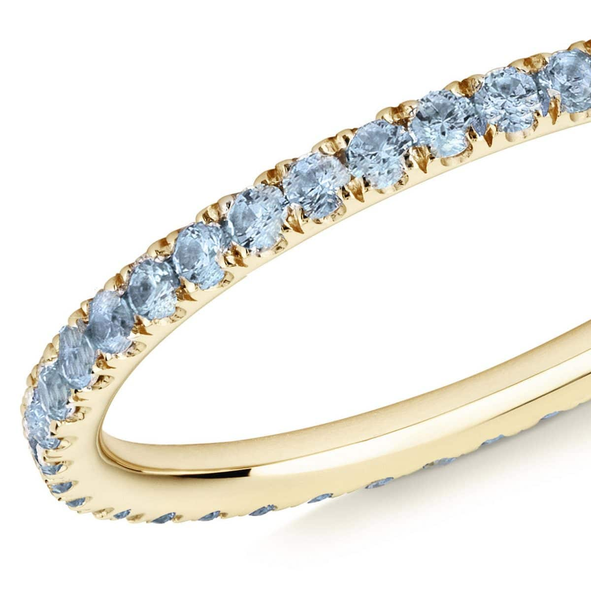 blue topaz full eternity ring 18ct yellow gold