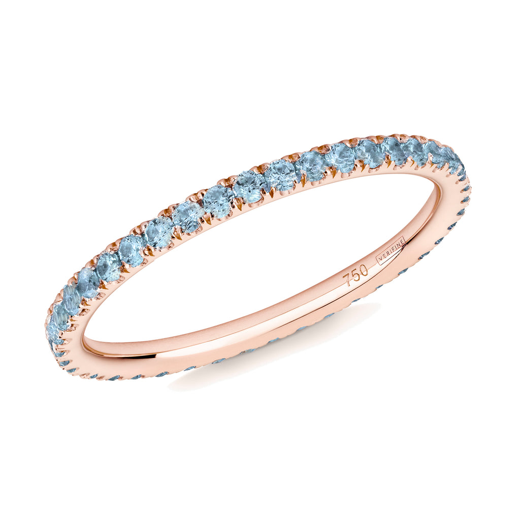 blue topaz full eternity ring 18ct rose gold