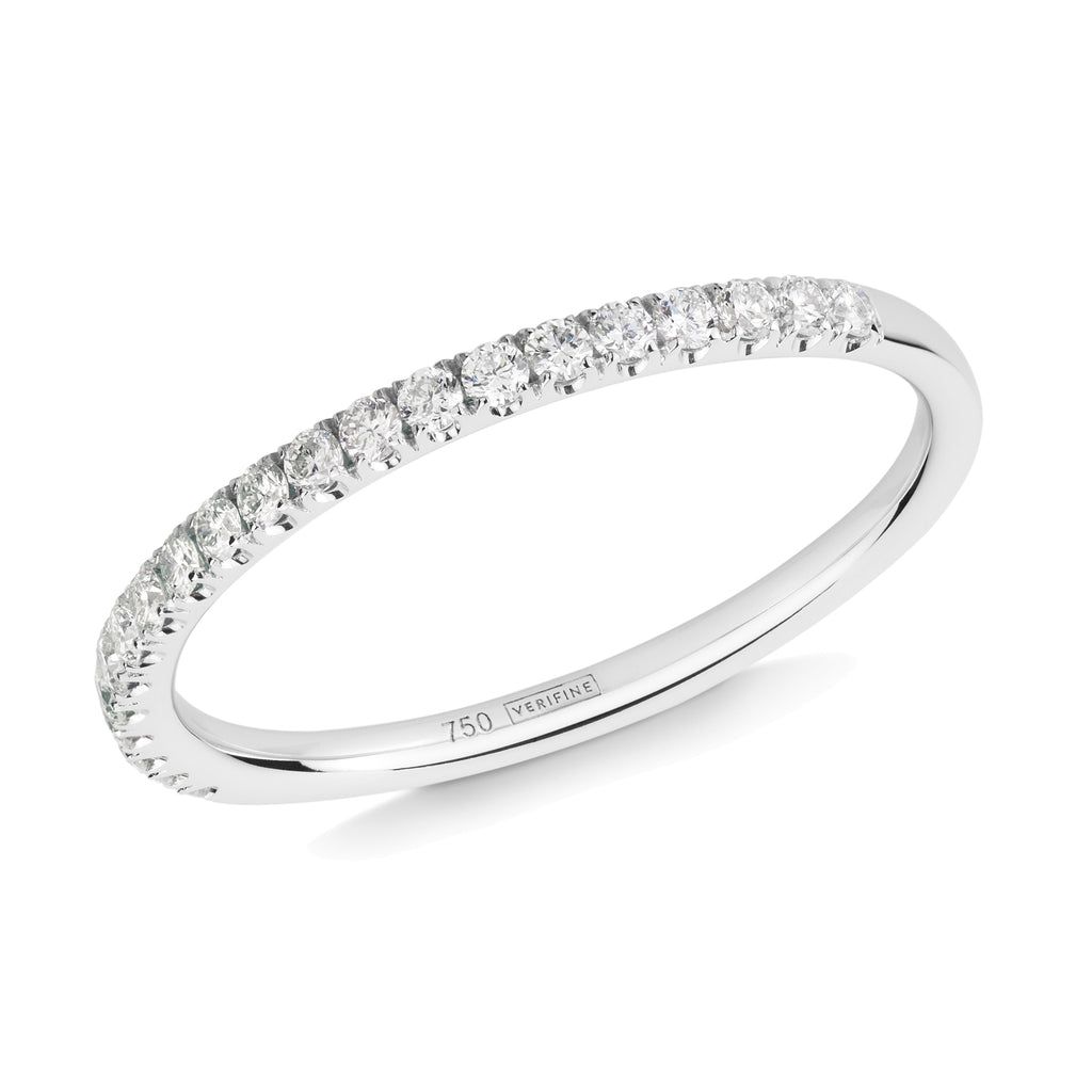 diamond half eternity ring 18ct white gold