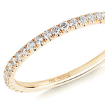 diamond half eternity ring 18ct yellow gold