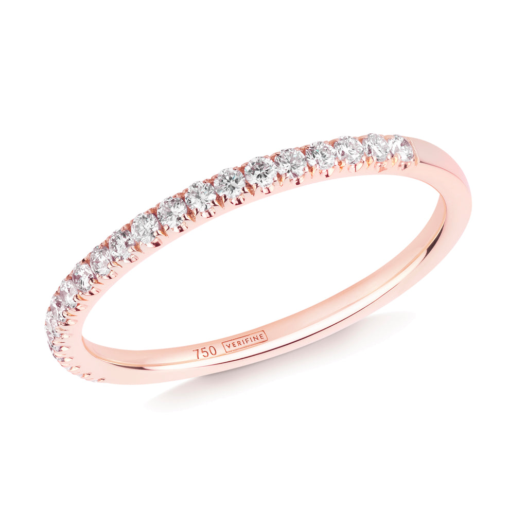 diamond half eternity ring 18ct rose gold