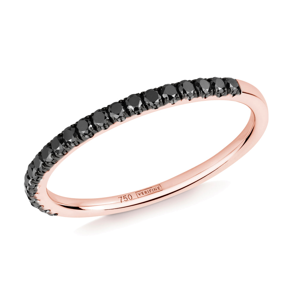 black diamond half eternity ring 18ct rose gold
