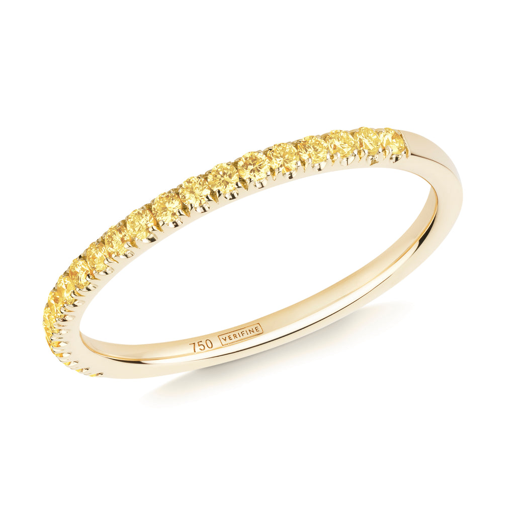yellow sapphire half eternity ring 18ct yellow gold