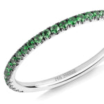 green garnet half eternity ring 18ct white gold