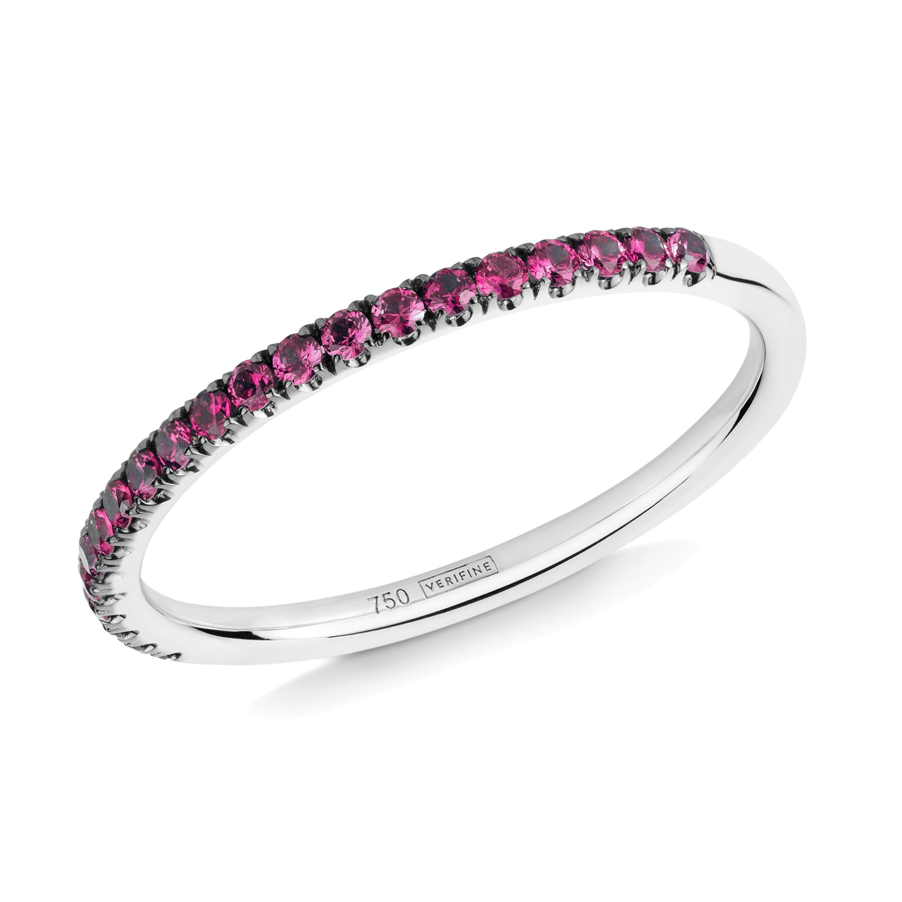 ruby half eternity ring 18ct white gold