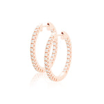 diamond full-set 20mm hoops 18ct rose gold