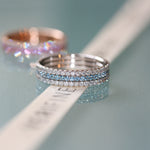 Royal Azure eternity ring stack