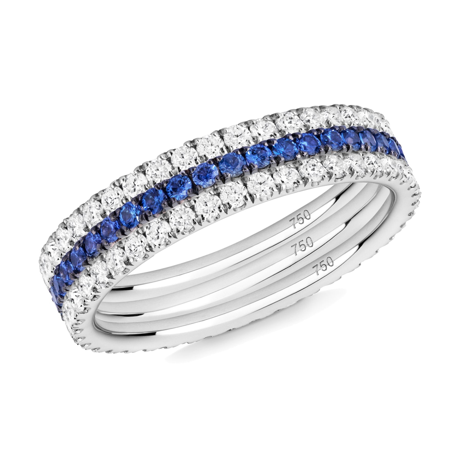 Royal Blue eternity ring stack