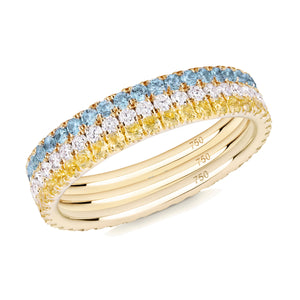 The Summer eternity ring stack