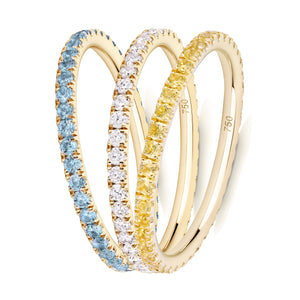 The Summer Sparkle eternity ring stack