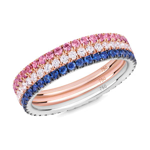 The Duchess eternity ring stack 18ct gold