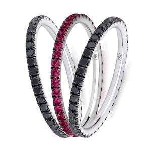 The Vamp eternity ring stack 18ct white gold
