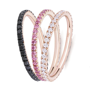 Three Roses eternity ring stack