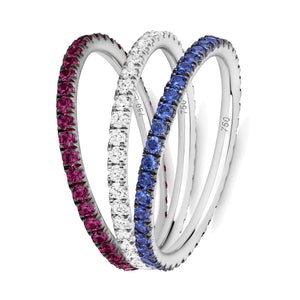 True Union eternity ring stack