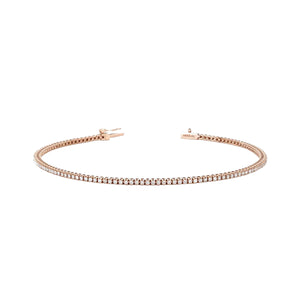 rose gold diamond bracelet 0.6 ct