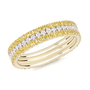 Voile D'or eternity ring stack