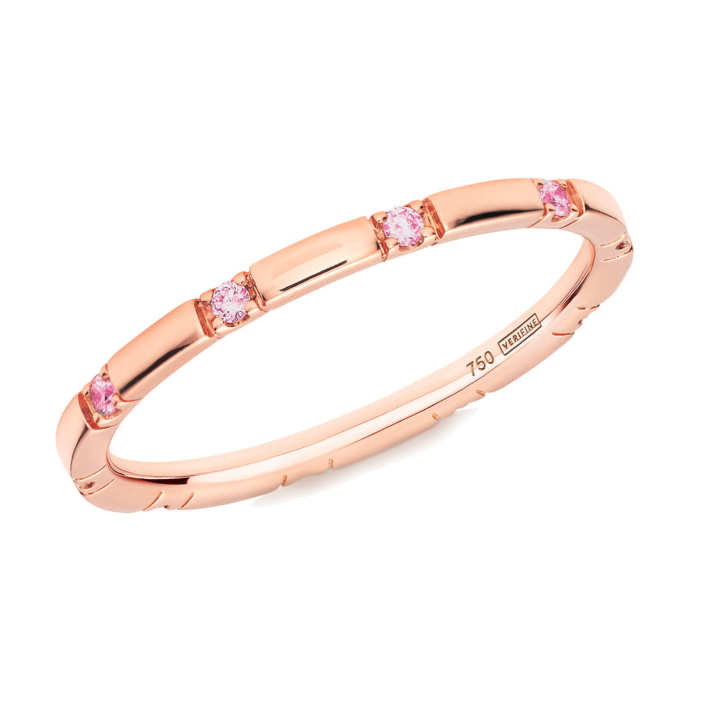 pink sapphire 10-stone XX filler ring