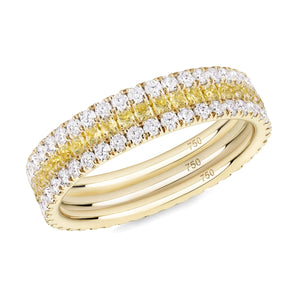 Yellowfine eternity ring stack 18ct yellow gold