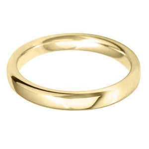 medium court 3.0mm wedding ring