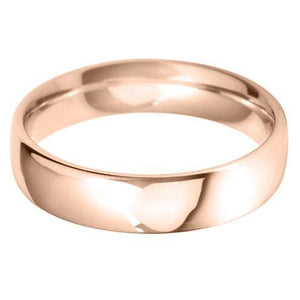 medium court 5.0mm wedding ring