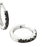 black diamond huggie earrings 18ct white gold