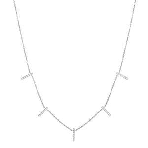 diamond skinny 5 bar pendant