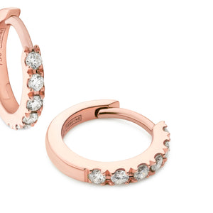 diamond huggie earrings 18ct rose gold