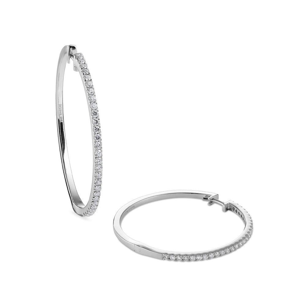 diamond 30mm hoops 18ct white gold