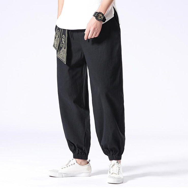 Ancient Style Black Tight End Pant
