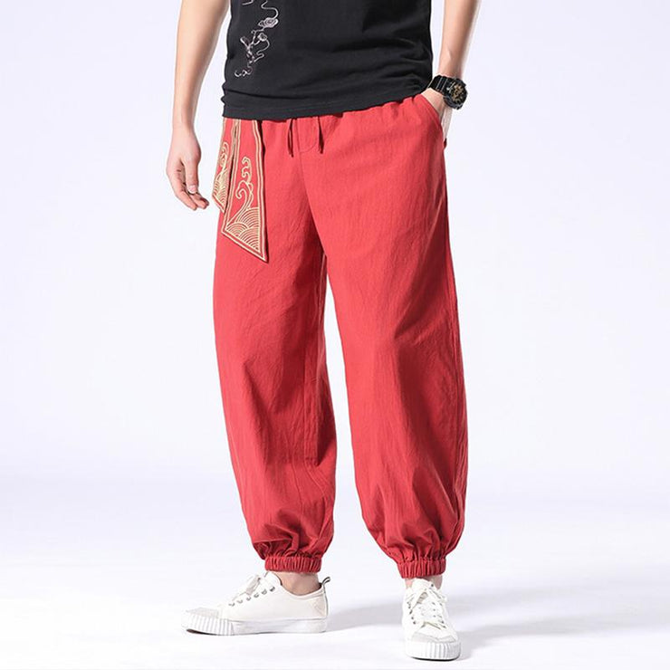 Ancient Style Red Tight End Pant