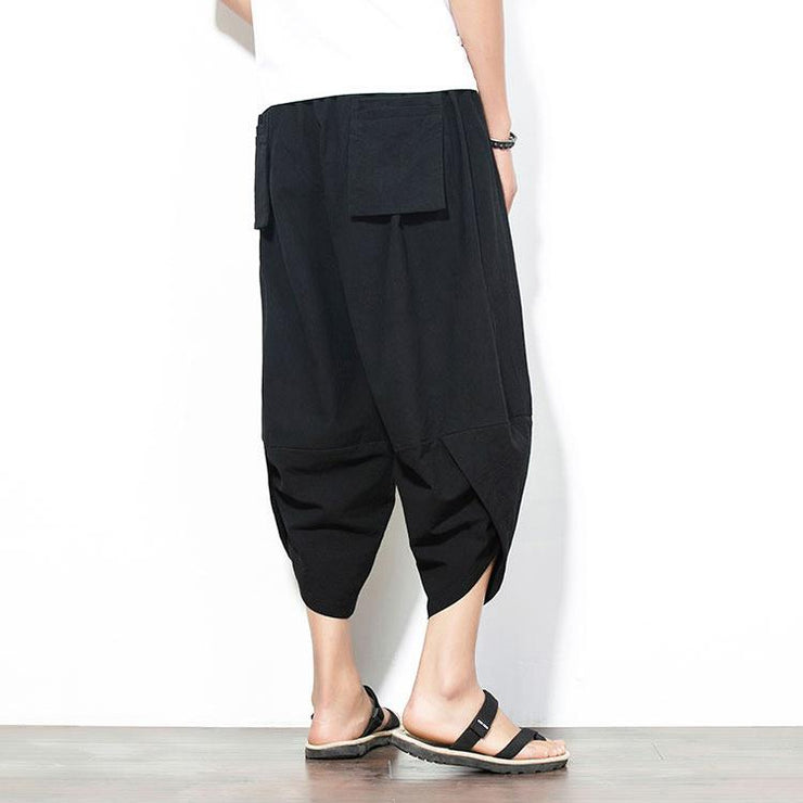 Solid Black Capri Cropped Pant