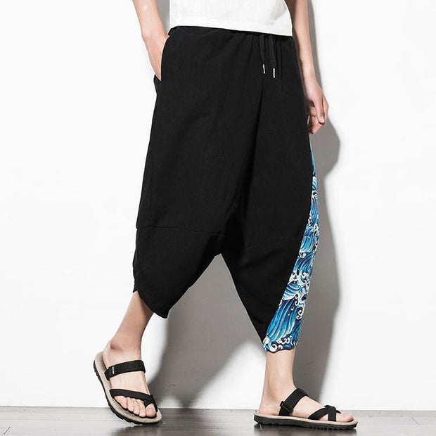 Blue Waves Capri Cropped Pant