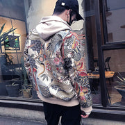 Colorful Cranes Embroidery Jacket