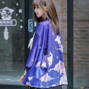 Flying Angel Cats Haori Kimono Cardigan