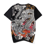 Tiger & Dragon II Embroidery T-Shirt
